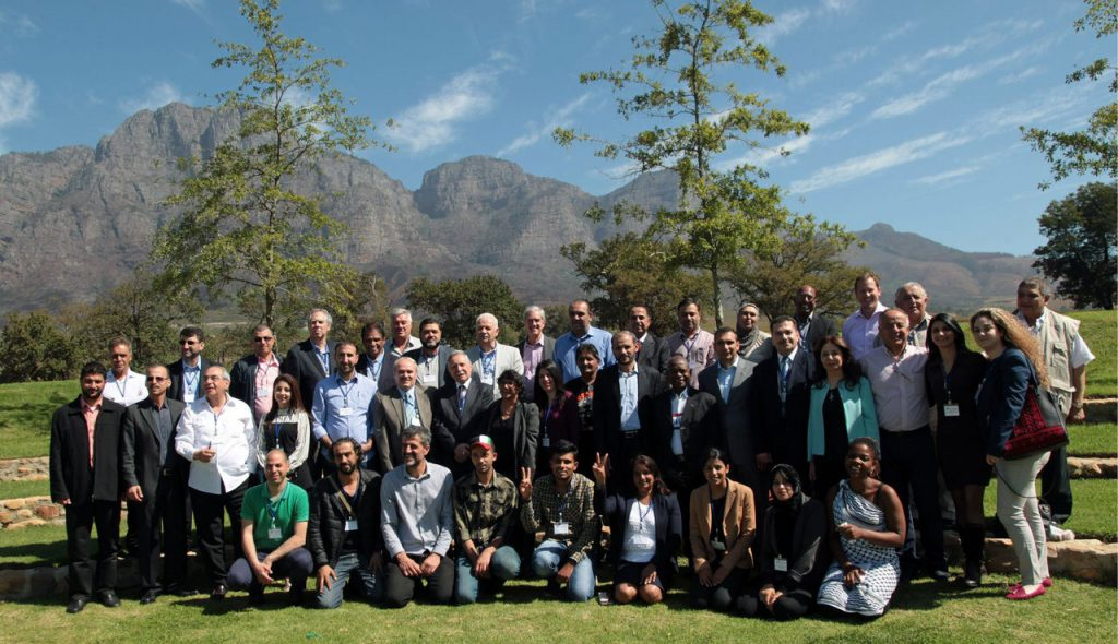 Palestinian delegation on a learning retreat to South Africa, 2016